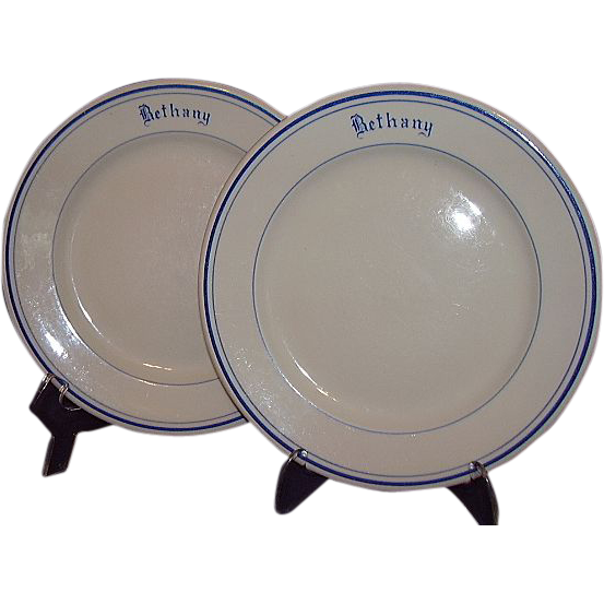 McNicol China USS Navy Ship Bethany Salad Plates 1950s