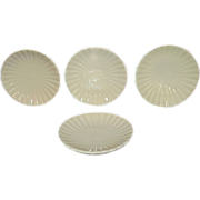 Royal Court White Porcelain Butter Pats, Set of 4, Japan
