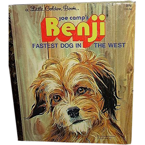 Benji, Fastest Dog in the West 1978 Little Golden Book