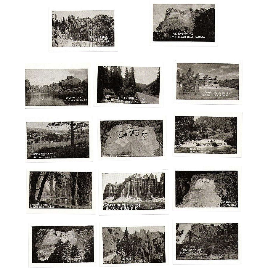 Souvenir Photo Folder, 1930s Black Hills, SD  20 B&W Miniatures