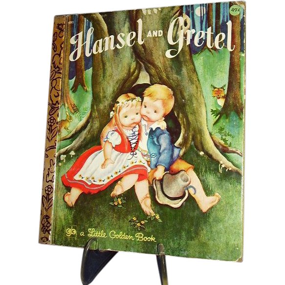 1975 Little Golden Book, Hansel and Gretel ~ FREE Shipping in US
