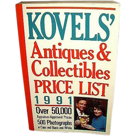Kovels' Antiques Collectibles Price List 1991, FREE Shipping in US