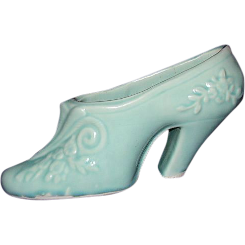 USA Pottery High Heeled Shoe