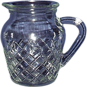 Hocking Waterford Waffle Depression Glass Pitcher