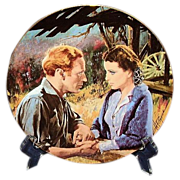Gone With The Wind Scarlett and Ashley After The War Golden Anniversary Collector Plate Third Issue WS George 1988