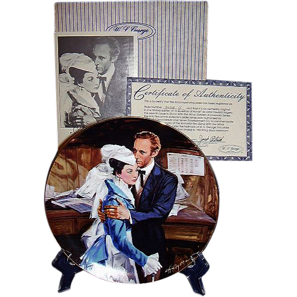 Gone With The Wind A Question of Honor Golden Anniversary Collector Plate Seventh Issue WS George 1989