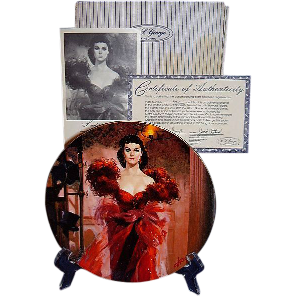 Gone With The Wind Scarletts Resolve Golden Anniversary Collector Plate Eighth Issue WS George 1989