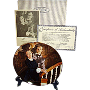 Gone With The Wind Melanie and Ashley Golden Anniversary Collector Plate Tenth Issue WS George 1989