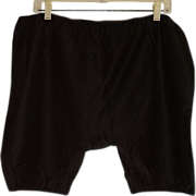 Womens 20th Century Black Cotton Underpants Bloomers Knickers