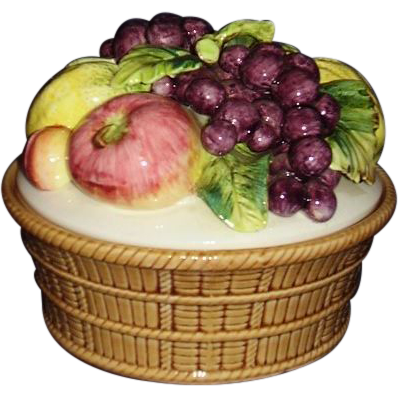 Porcelain Fruit Basket by Arnart Original Creations M4073N JAPAN