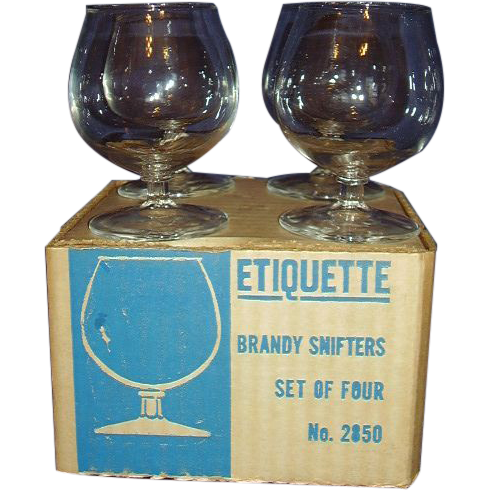 Brandy Snifters Small Size Clear Glass Set of 4 MIB