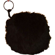 Antique Black Bear Fur Ladies Hand Muff 19th Century