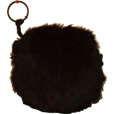 Antique Black Bear Fur Ladies Hand Muff 19th Century