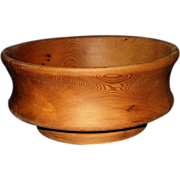 Walnut Wood Turned Footed Bowl - Beautiful Grain!