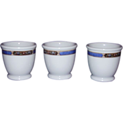 Syracuse Restaurant Ware Boullion Custard Cups 1941 OP CO