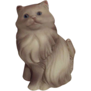 Avon Gray Persian Cat Figurine 1984