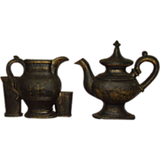 Burwood Early American Tea Pot and Pitcher Wall Plaques 1968