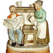 Grandma Grandpa Music Box Plays Theres No Place Like Home Price Imports Japan
