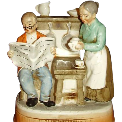 Grandma Grandpa Music Box Plays Theres No Place Like Home Price Imports Japan