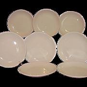 Homer Laughlin Restaurant Ware Bread Butter Plates 8 All White Best