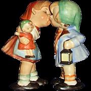 Porcelain Kissing Boy and Girl Figurines Hummel Inspired