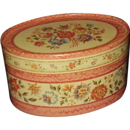 Avon Natural Blend Potpourri Box 1983 ~ Pretty Florals Oval Shape