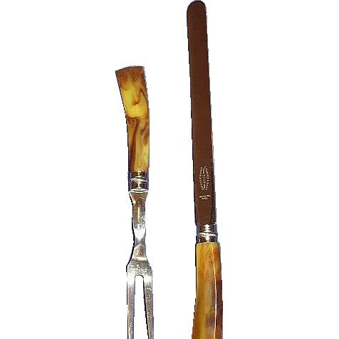 Sheffield Cutlery Set Bakelite Handles E. Parker & Sons England