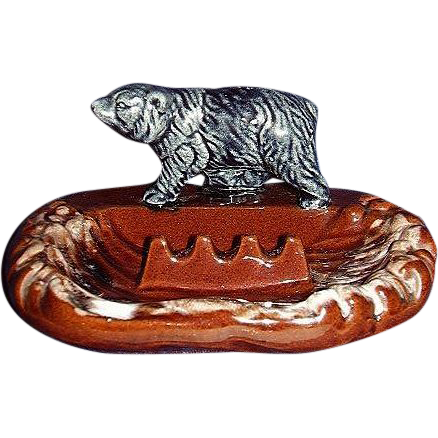 Black Bear Redware Ashtray JAPAN