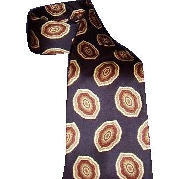 Christian Dior Monsieur Italian Navy Blue Silk Neck Tie