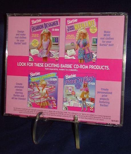 barbie software  u0026quot barbie fashion designer u0026quot  cd