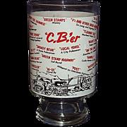 1970s CB Radio Beer Glass with CB'er Trucker Jargon