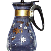 1950s Pyrex Snowflake 10-Cup Carafe