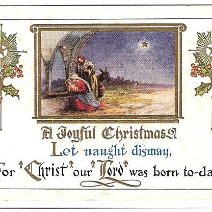 1915 Embossed Christmas Post Card ~ Nativity Scene : Romancing The Past |  Ruby Lane