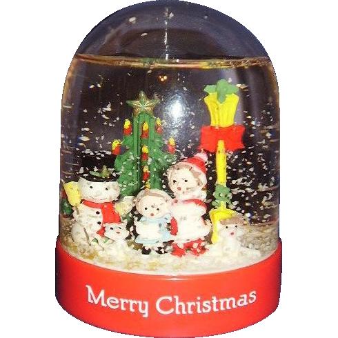Christmas Snow Globe Snow Dome ~ MIB 1991