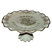 Lefton Happy Anniversary Cake Stand Pedestal Cake Plate