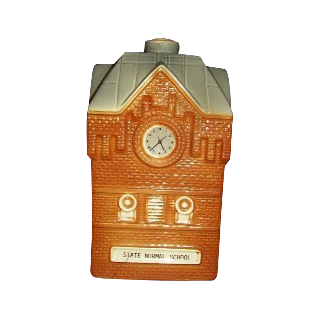 Glenville State College, West Virginia Clock Tower Whiskey Decanter Mike Wayne 1983 111th Anniversary Limited Edition