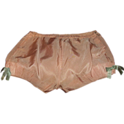 Girls Pink Satin Underpants Tap Pants Bloomers Knickers 1920-30s