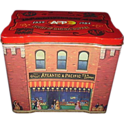 Great Atlantic & Pacific Tea Company 125th Anniversary Tin 1859 - 1984 Detailed Graphics