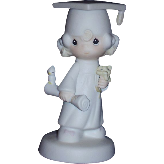 Precious Moments The Lord Bless You and Keep You 1980 Girl Graduate Figurine E-4721