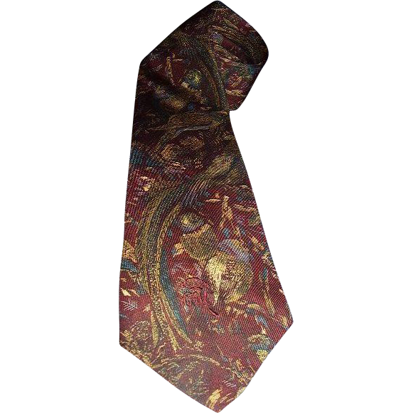 Countess Mara New York Designer Neck Tie Pheasants Game Birds