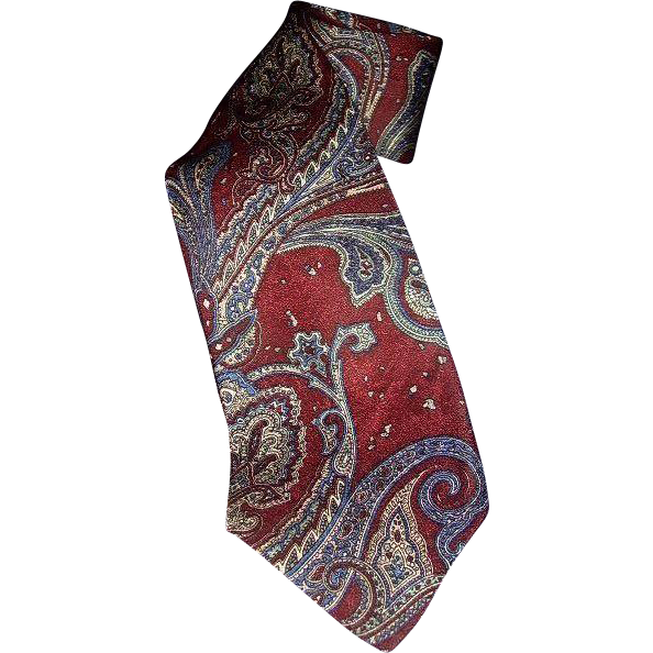 Countess Mara Paisley All Silk Neck Tie Made in USA