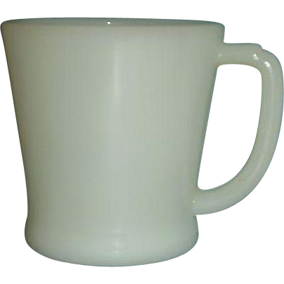 Fire King Ivory D Handle Coffee Mug Made 1948 to 1957
