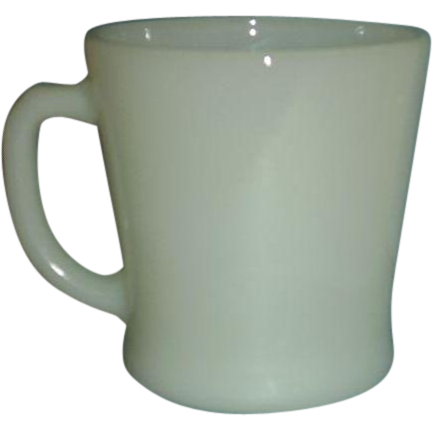 Anchor Hocking Ivory D Handle Coffee Mug Oven-Proof Newell Specialty Glass 1980s - 4 Mugs Available