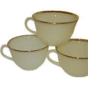 Fire King Swirl Golden Shell Coffee Cups Grouping of 5