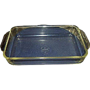 Fire King Anchor Hocking Crystal Clear Ovenware 1.5 Quart Rectangular Baking Dish 410 Made in 1960s