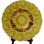 Lefton Exclusives Deviled Egg Platter Harvest Gold 4917 Japan