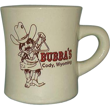 Bubba's Bar-B-Que Restaurant Ware Advertising Mug Cody Wyoming