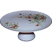 Shafford Butterflies Cake Stand Pedestal Cake Plate Ecstasy Pattern 1970s Japan
