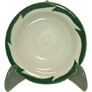 Wellsville China Restaurant Ware Green Crest Rim Fruit Dessert Sauce Bowl