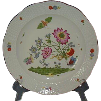 Charles Field Haviland Limoges Hard Paste Porcelain Plate MMA Reproduction of 1735 Royal Saxon Manufactory at Meissen Germany